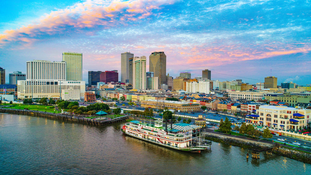 Riverside view of New Orleans, LA
